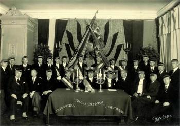 Fr.Acad. – Šarūnas Draudzības līguma parakstīšanas akts 5.XI 1938. Fr.Acad. C!Q!