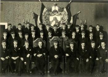 Fr.Acad. – Tervetia Draudzības līguma parakstīšanas akts 23.XI 1934. Terv. C!Q!