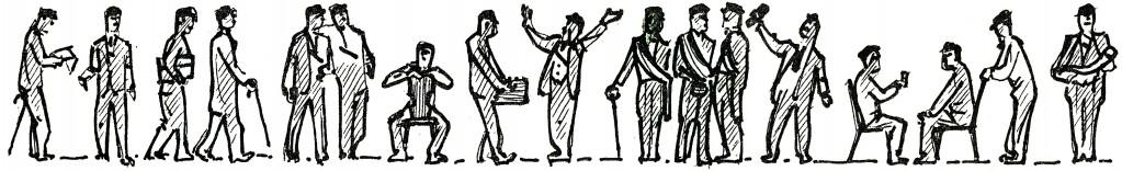 Fil! R.Veldres zīmējums - dažas draugu sejas